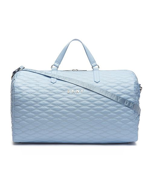 92e12c0451b6 DKNY Allure Quilted Barrel Large Duffle   Reviews - Luggage - Macy s