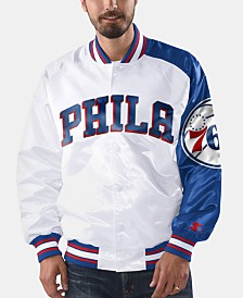 G-III Sports Men's Philadelphia 76ers Dugout Opening Day Satin Jacket