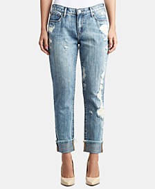 True Religion Cameron Ripped Embellished Boyfriend Jeans