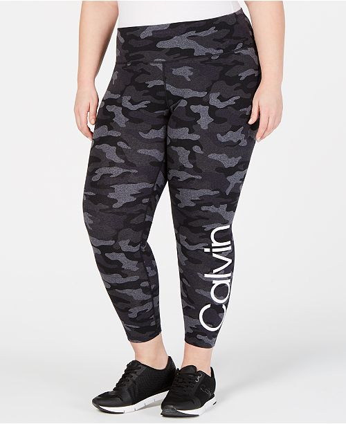 Calvin Klein Plus Size Camo Leggings
