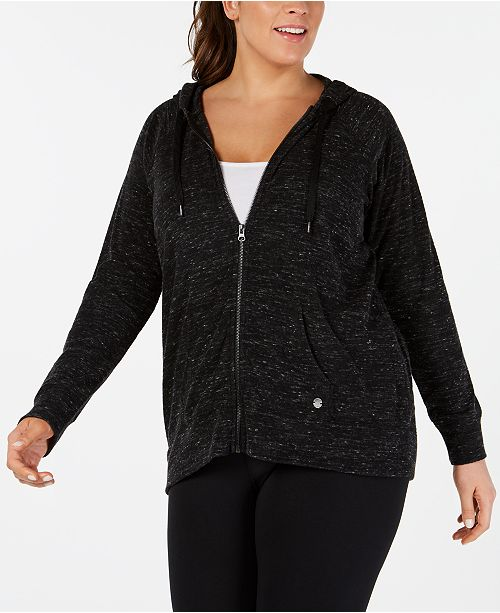 0d1e2fc45be ... Ideology Plus Size Zip Hoodie