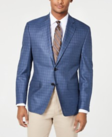 Lauren Ralph Lauren Men's Classic-Fit UltraFlex Stretch Blue Check Sport Coat