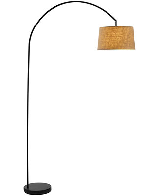 Black Goliath Arc Floor Lamp by Adesso