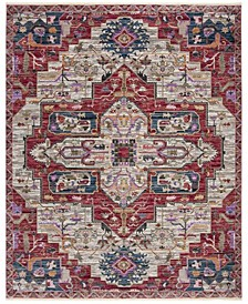 Nirvana Creme and Red 9' x 13' Area Rug
