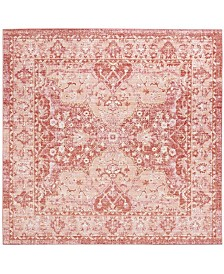 Safavieh Windsor Rose and Red 6' x 6' Square Area Rug