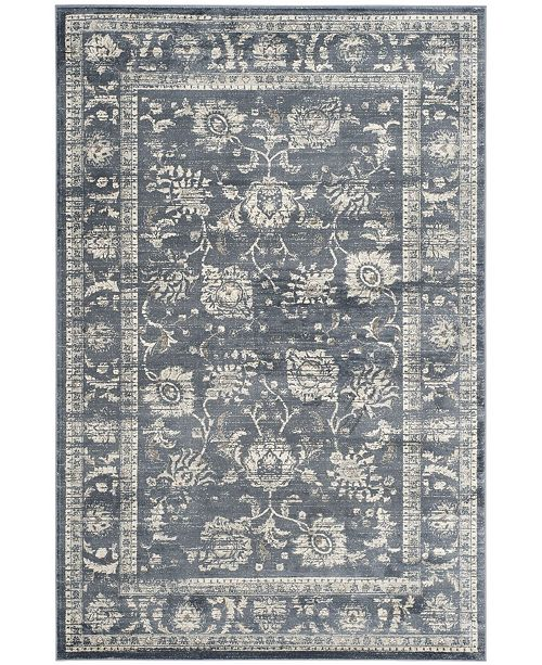 Safavieh Vintage Dark Gray and Cream 3' x 5' Area Rug
