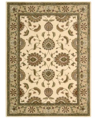 "CLOSEOUT! Area Rug, Somerset Collection ST60 Tabriz Ivory 2'3"" x 8' Runner Rug"