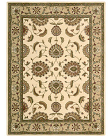 CLOSEOUT! Nourison Round Area Rug, Somerset Collection ST60 Tabriz Ivory 5'6""