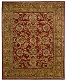 "Rajah JA17 Isfahan Burgundy 7'9"" x 9'9"" Area Rug"
