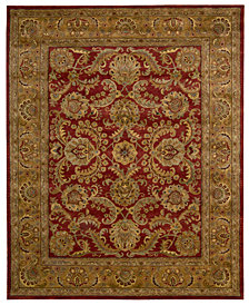 Nourison Area Rugs, Rajah Collection JA17 Isfahan Burgundy