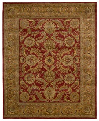 nourison area rugs rajah collection ja17 isfahan burgundy - Nourison Rugs