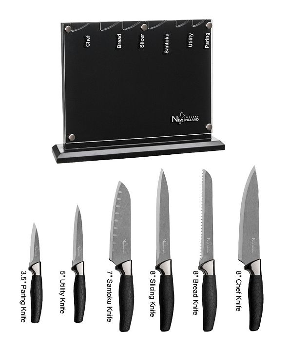 New England Cutlery 7 Piece Titanium Coated Cutlery Set
