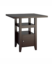 Counter Height Dining Table with Cabinet