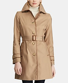 2a2aec0cb01f3 Lauren Ralph Lauren Petite Faux-Leather-Trim Trench Coat