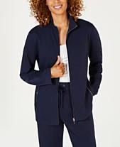 2584563398db0 Karen Scott French Terry Zip-Front Jacket