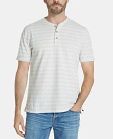 Weatherproof Vintage Men's Printed Henley Shirt