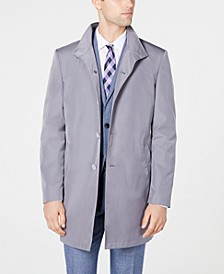 Men's Slim Fit Solid Raincoat