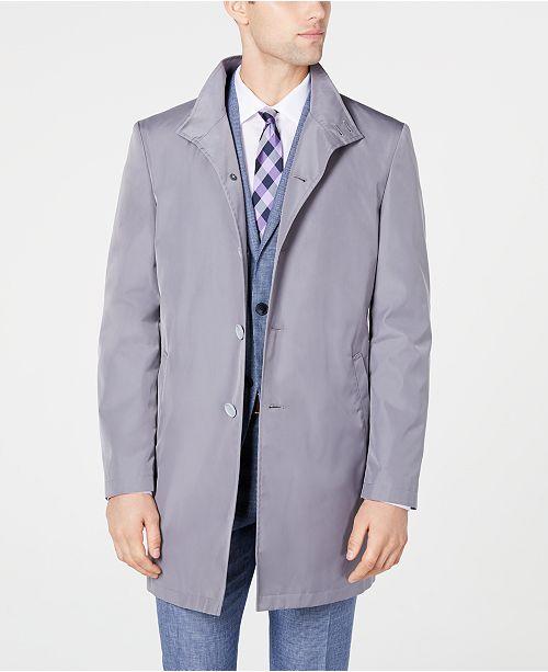 Calvin Klein Men's Slim Fit Black Solid Raincoat