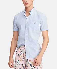Men's Big & Tall Classic Fit Seersucker Shirt