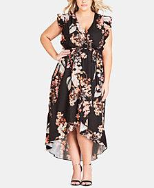 City Chic Trendy Plus Size High-Low Maxi Dress