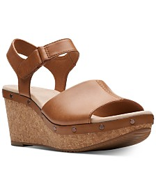 Clarks Collection Women's Annadel Clover Wedge Sandals