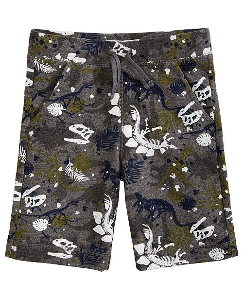 Epic Threads Little Boys Dino-Print Knit Shorts, Created for Macy's