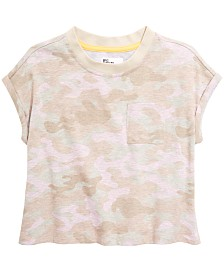 Epic Threads Big Girls Camo-Print Cropped T-Shirt, Created for Macy's