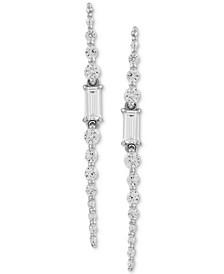 Swarovski Cubic Zirconia Linear Earrings in Sterling Silver (1-7/8 ct.t.w.)