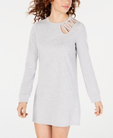 488f9ac705f2 Material Girl Juniors  Lace-Up Sweatshirt Dress