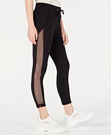Material Girl Juniors' Mesh-Panel Sweatpants, Created for Macy's