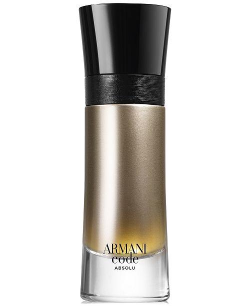 Giorgio Armani Men's Armani Code Absolu Eau de Parfum Spray, 2-oz