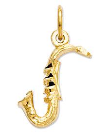 14k Gold Charm, Saxophone Charm