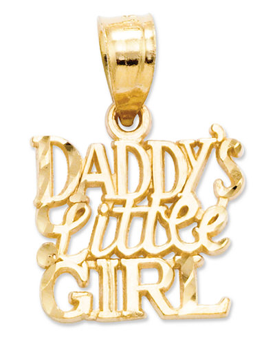 14k Gold Charm, Daddy's Little Girl Charm