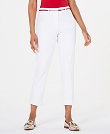 Ribbon-Trim Ankle Pants, Created for Macy's