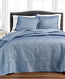 Lush Embroidery Bedspread & Sham Collection, Created for Macy's