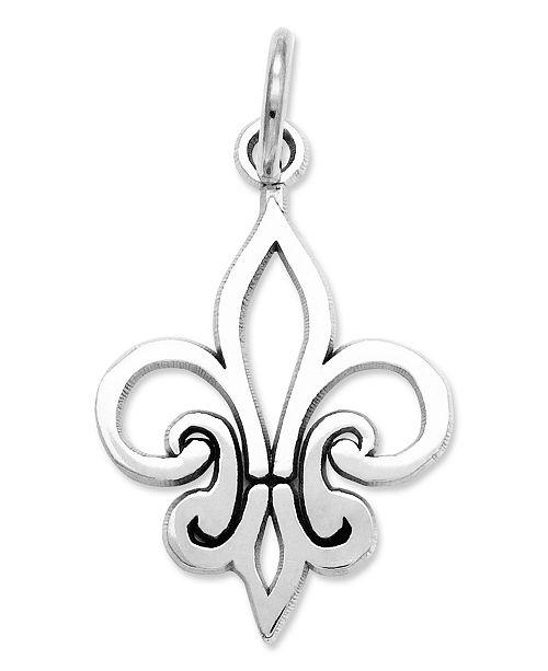 Macy's 14k White Gold Charm, Fleur De Lis Charm