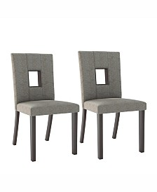 Corliving Sand Fabric Dining Chairs, Set of 2