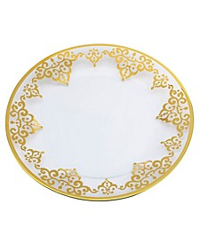 Set of  4 Round Plates with Artwork