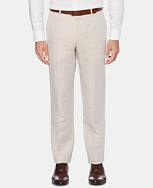 Men's Portfolio Modern-Fit Linen/Cotton Solid Dress Pants