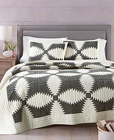 Martha Stewart Collection Windmill Collector's Quilt and Sham Collection, Created for Macy's