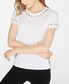 I.N.C. Studded T-Shirt, Created for Macy's