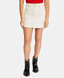 Free People Lennox Seamed A-Line Mini Skirt