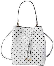 Lauren Ralph Lauren Dryden Debby Dot Leather Drawstring