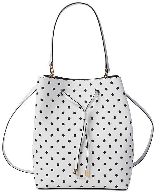 Lauren Ralph Lauren Dryden Debby Dot Leather Drawstring