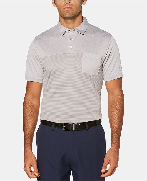 PGA TOUR Men's Athletic-Fit Air Texturized End-On-End Pocket Polo