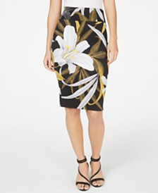 Thalia Sodi Printed Pencil Skirt, Created for Macy's