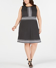 MICHAEL Michael Kors Plus Size Dot-Print Dress
