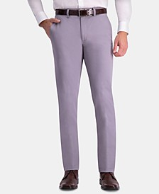 Men's Premium Comfort Khaki Slim-Fit 2-Way Stretch Wrinkle-Resistant Flat-Front Casual Pants