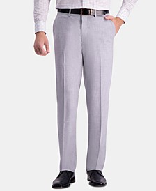 J.M. Men's Straight-Fit 4-Way Stretch Flat-Front Dress Pants