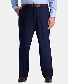JM Haggar Men's Big & Tall Classic-Fit 4-Way Stretch Flat-Front Dress Pants
